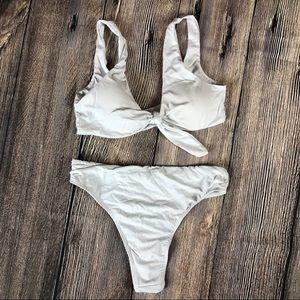 Other - White trendy tie thong bikini